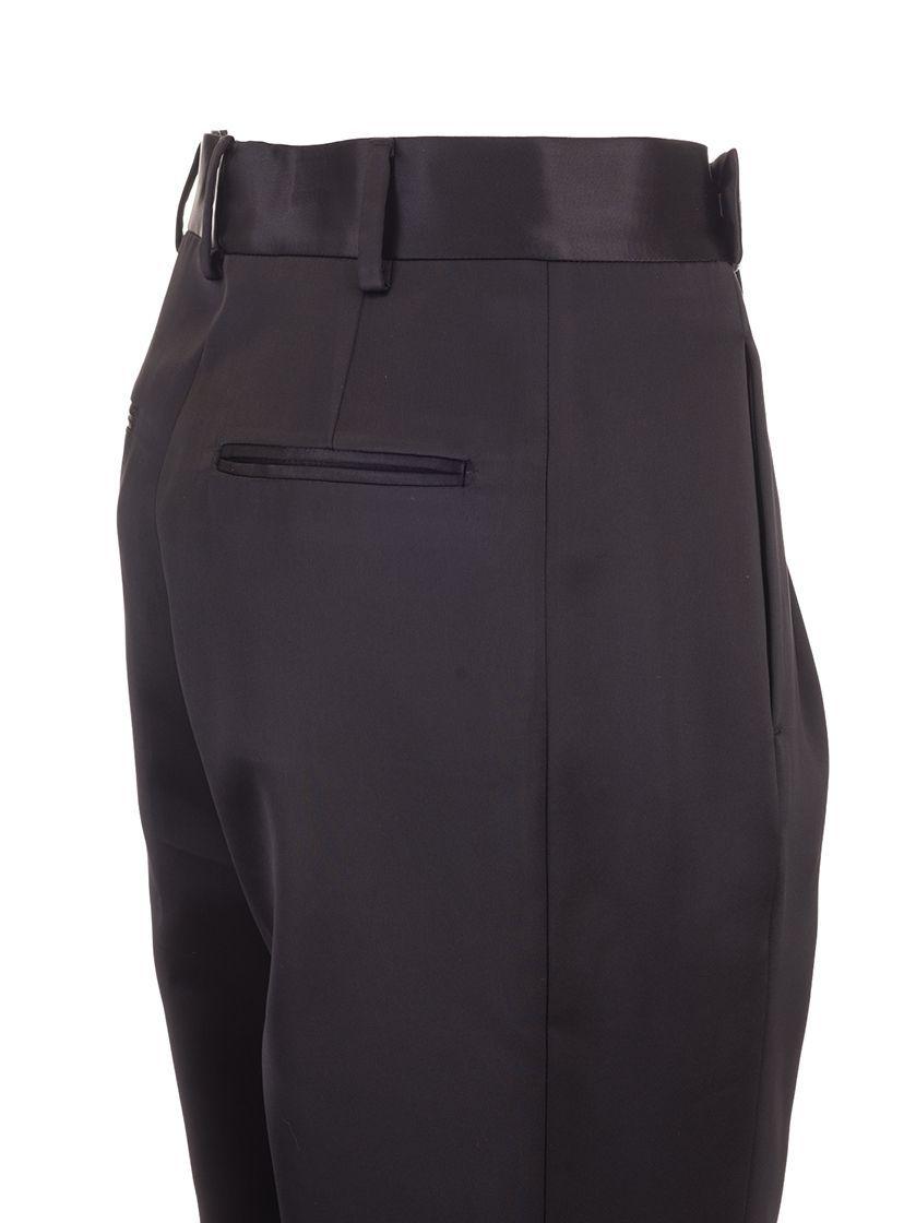 SAINT LAURENT WOMEN'S 590989Y145D1000 BLACK VISCOSE PANTS