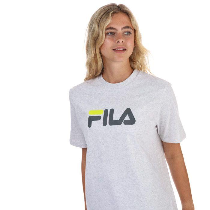 Women's Fila Eagle Graphic T-Shirt in Light Grey