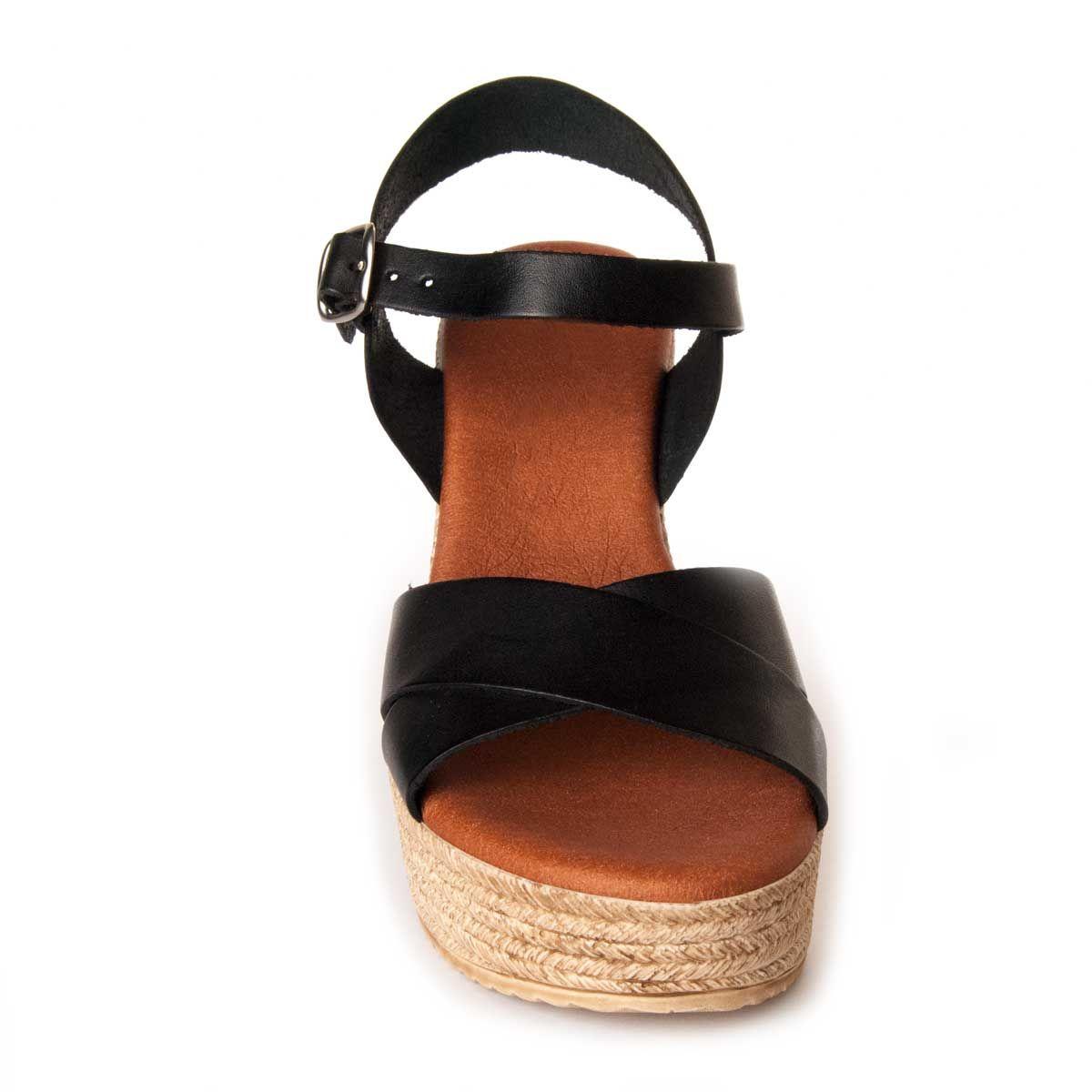 Leindia Platform Sandal in Black