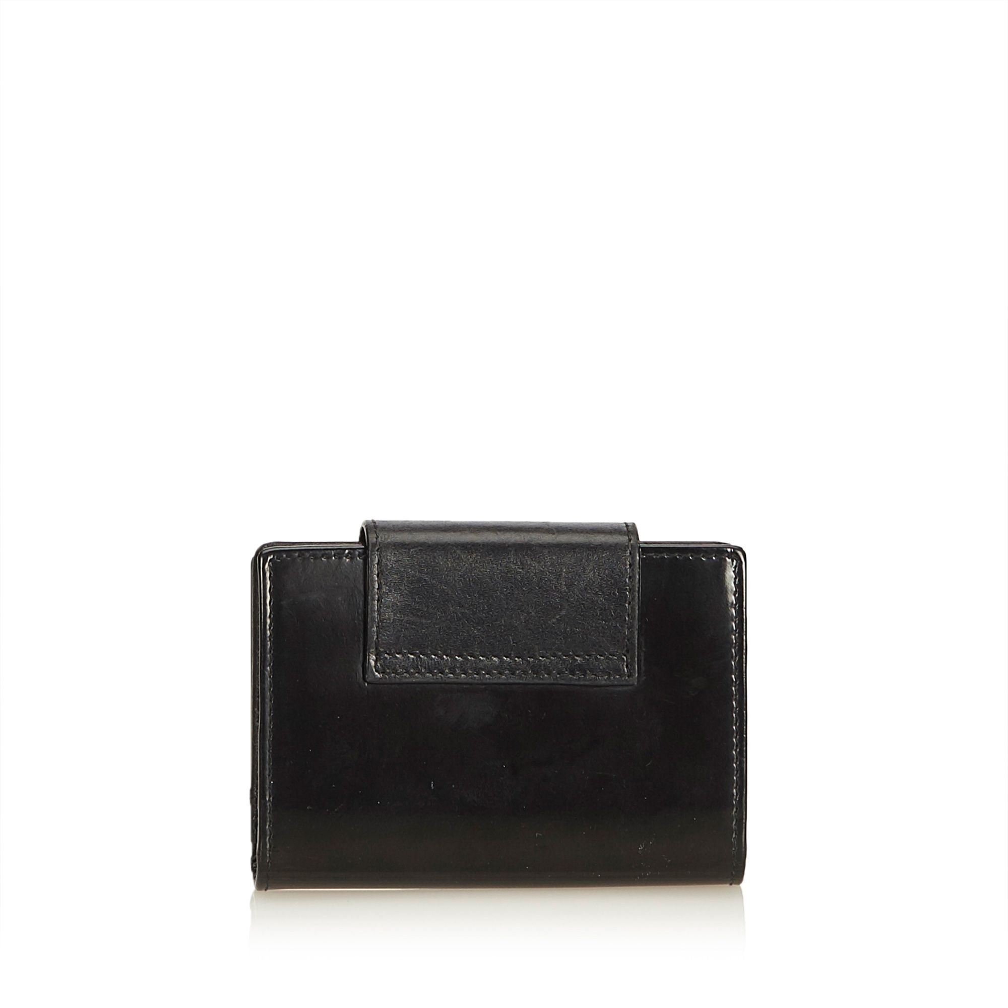 Vintage Dior Leather Business Card Holder Black