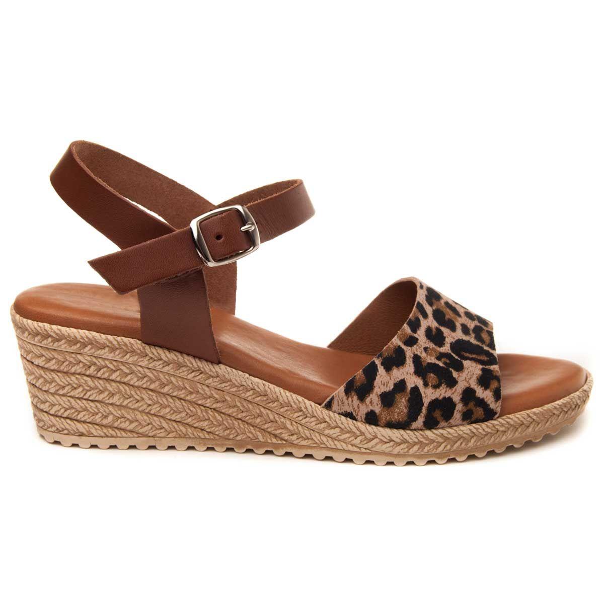 Montevita Chunky Heel Sandal in Brown