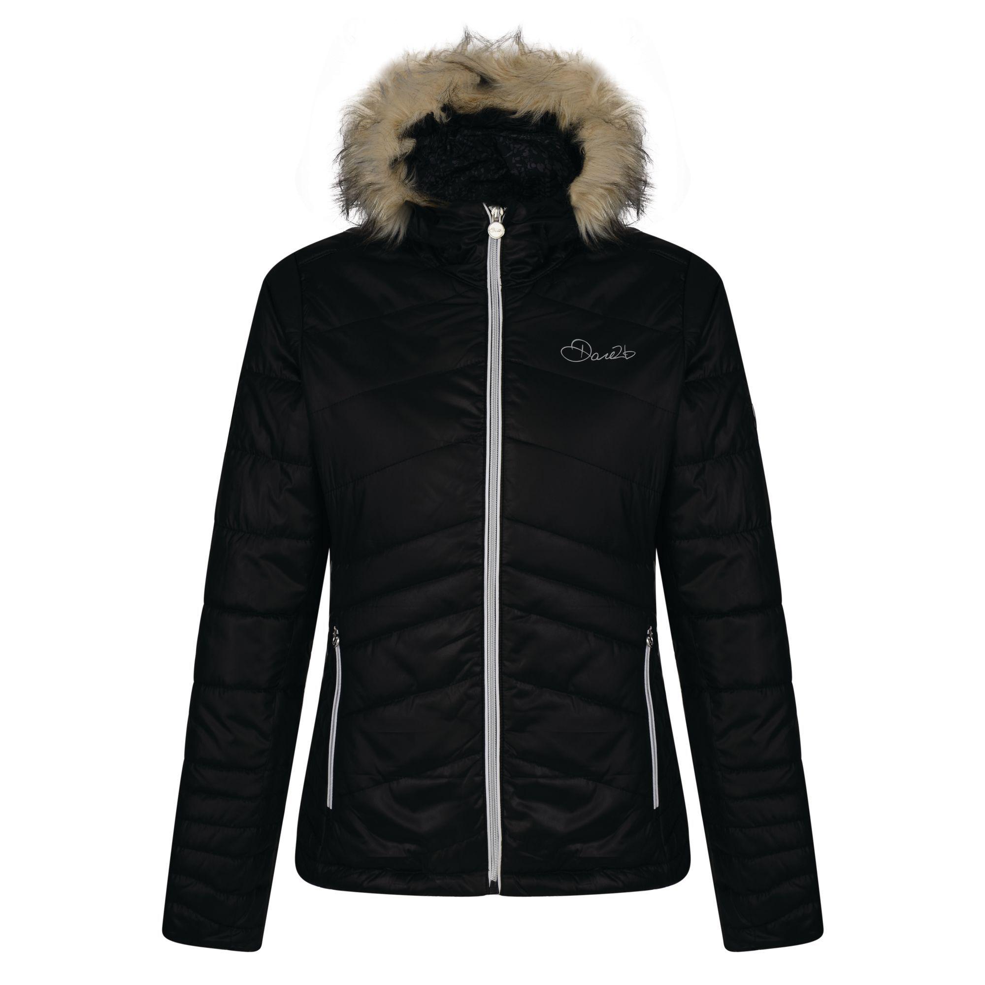 Dare 2b Womens/Ladies Comprise Luxe Ski Jacket (Black)