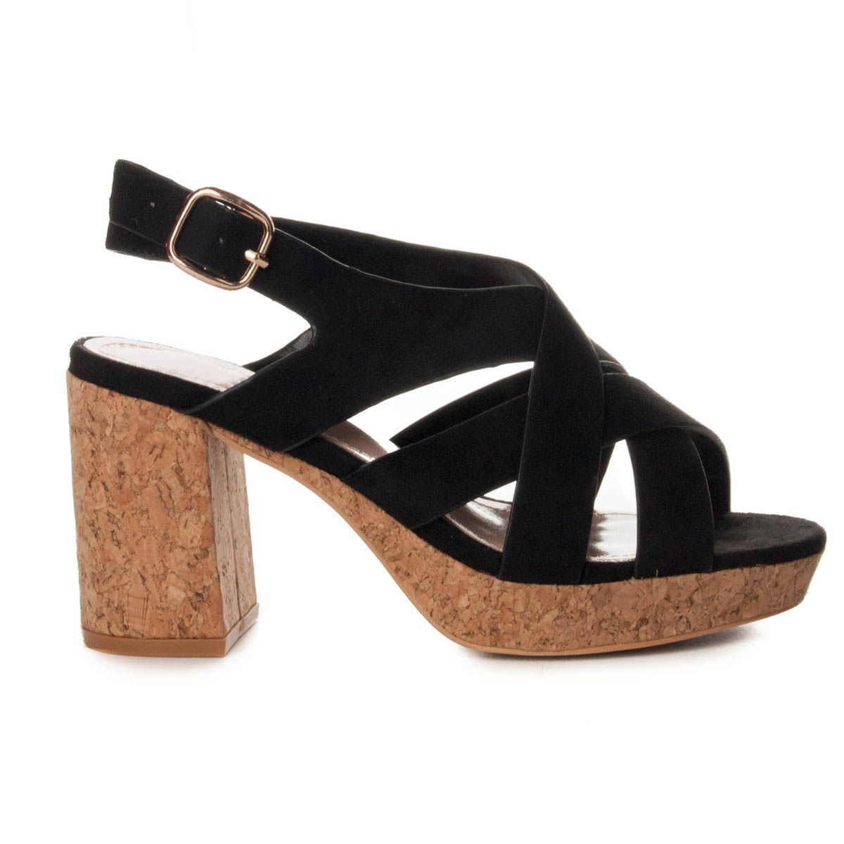 Montevita Platform Sandal in Black