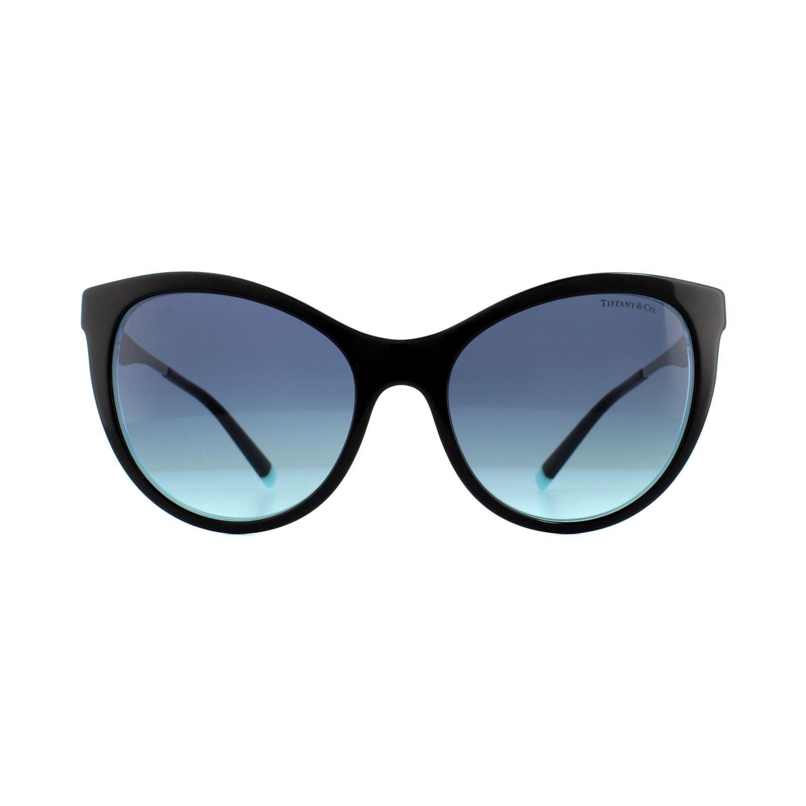 Tiffany Sunglasses TF 4159 82749S Black & Crystal Blue Azure Blue Gradient