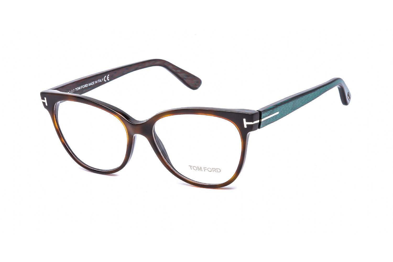 Tom Ford Cat eye acetate Women Eyeglasses Dark Havana / Clear Lens