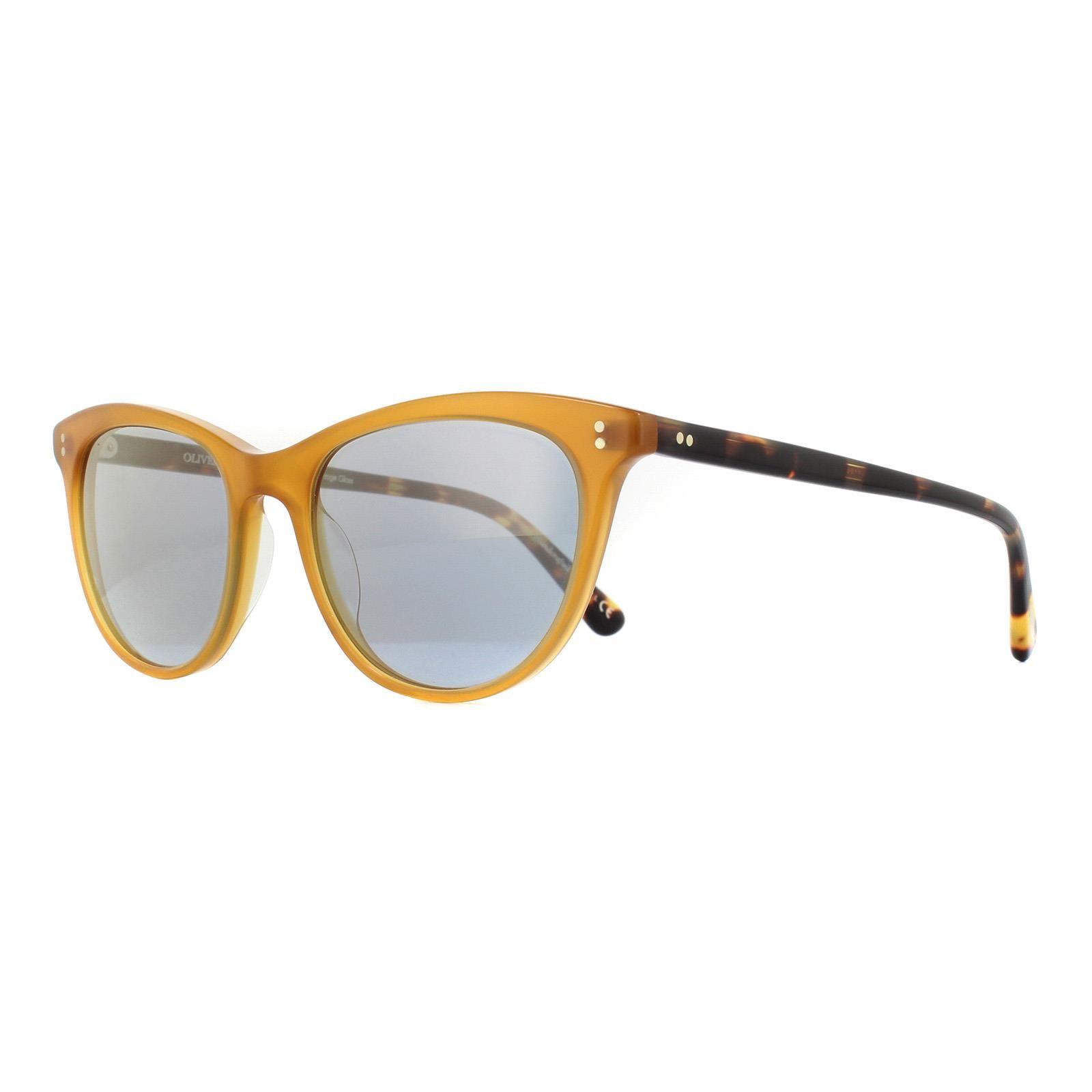 Oliver Peoples Sunglasses Jardinette OV5276SU 1590Y5 Amber Blue Goldtone