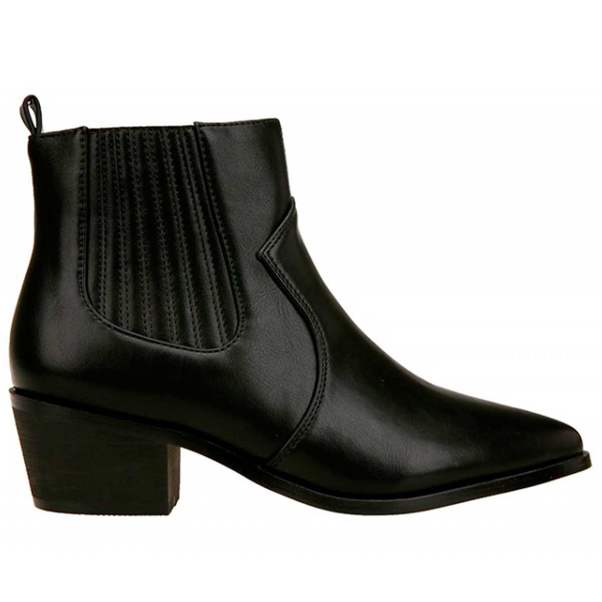 Montevita Western Ankle Boot in Black