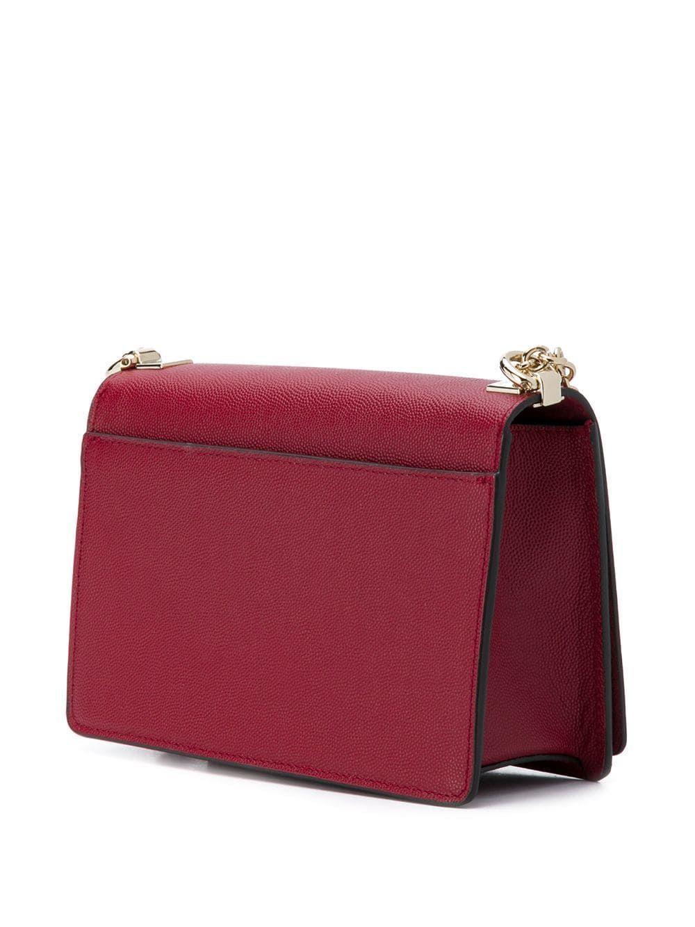 FURLA WOMEN'S 1026447 RED LEATHER SHOULDER BAG