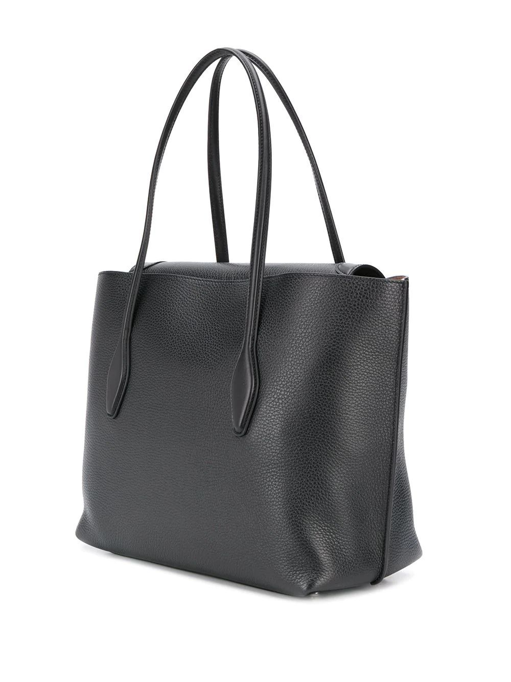 TOD'S WOMEN'S XBWANXA8300N95B999 BLACK LEATHER TOTE