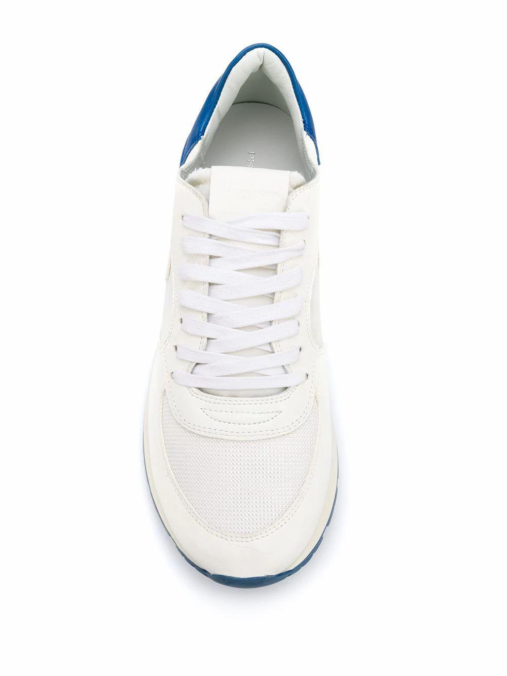 PHILIPPE MODEL MEN'S NTLUXT14 WHITE LEATHER SNEAKERS