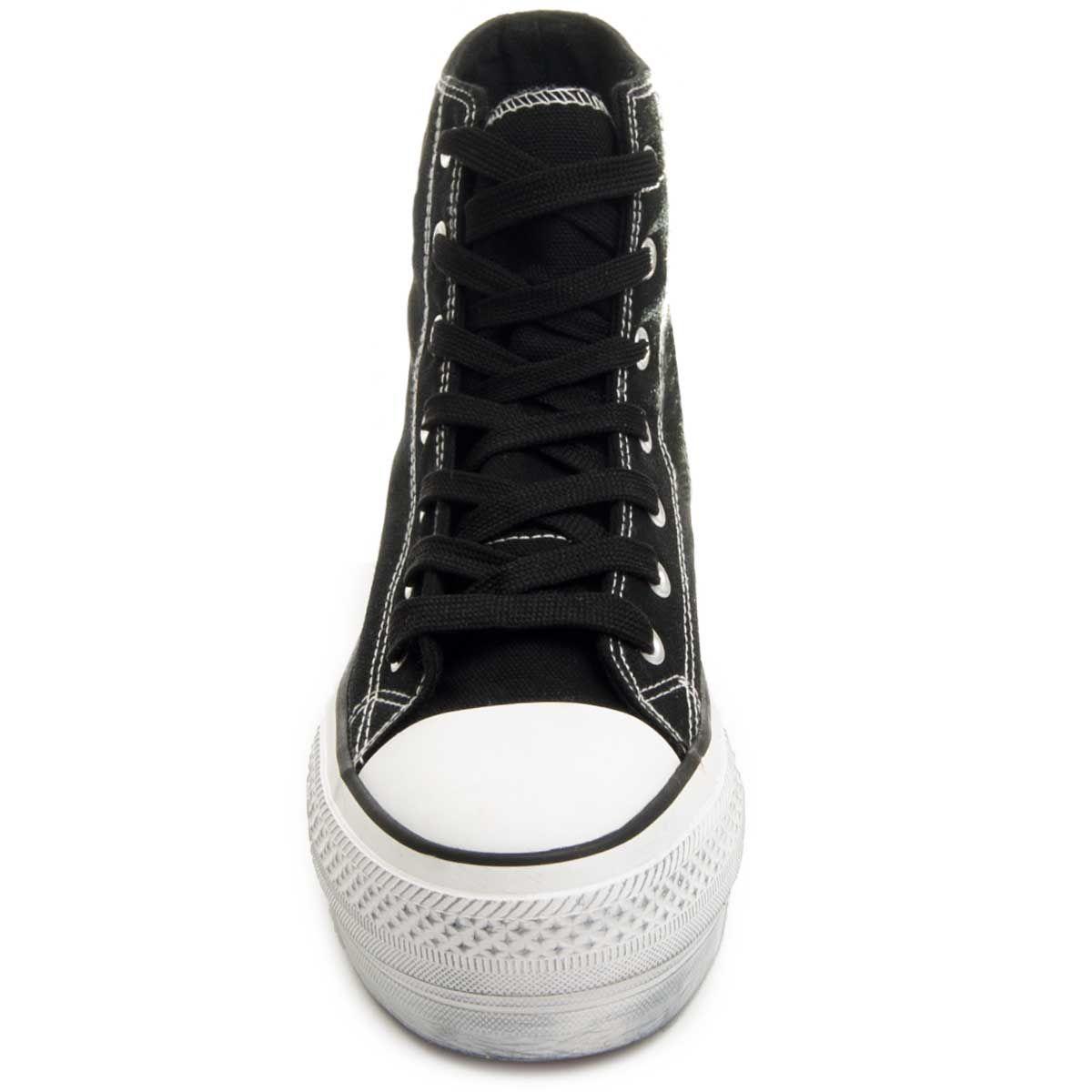 Montevita Flatform High-Top Sneaker in Black