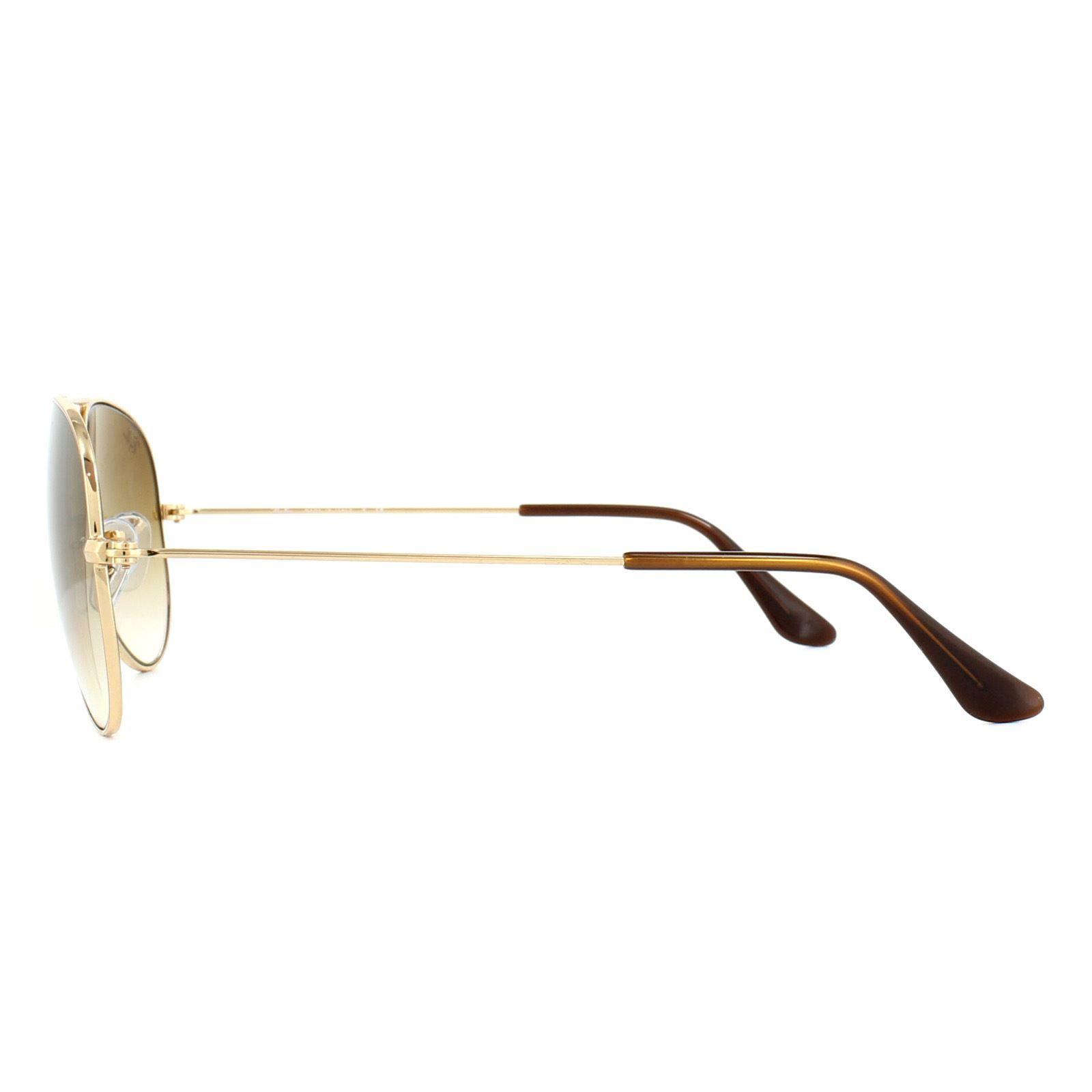 Ray-Ban Sunglasses Aviator 3025 001/51 Gold Brown Fade