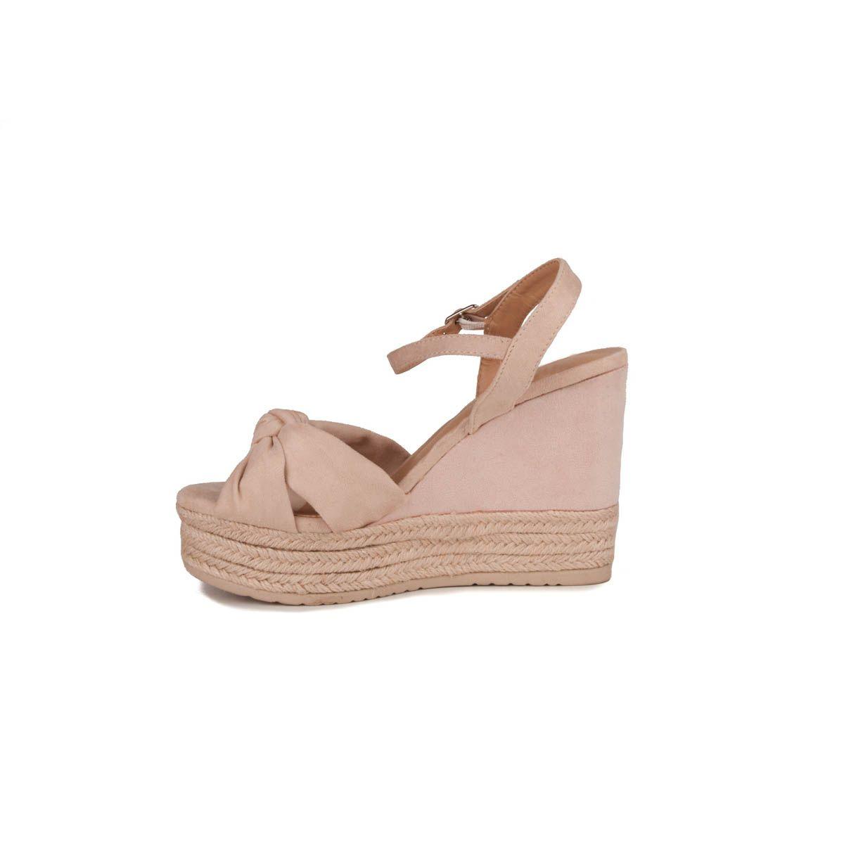 Montevita Chunky Heel Sandal in Beige