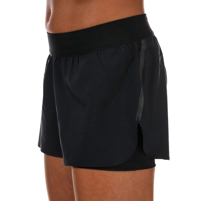 Women's adidas Alphaskin Two-In-One Shorts in Black-White