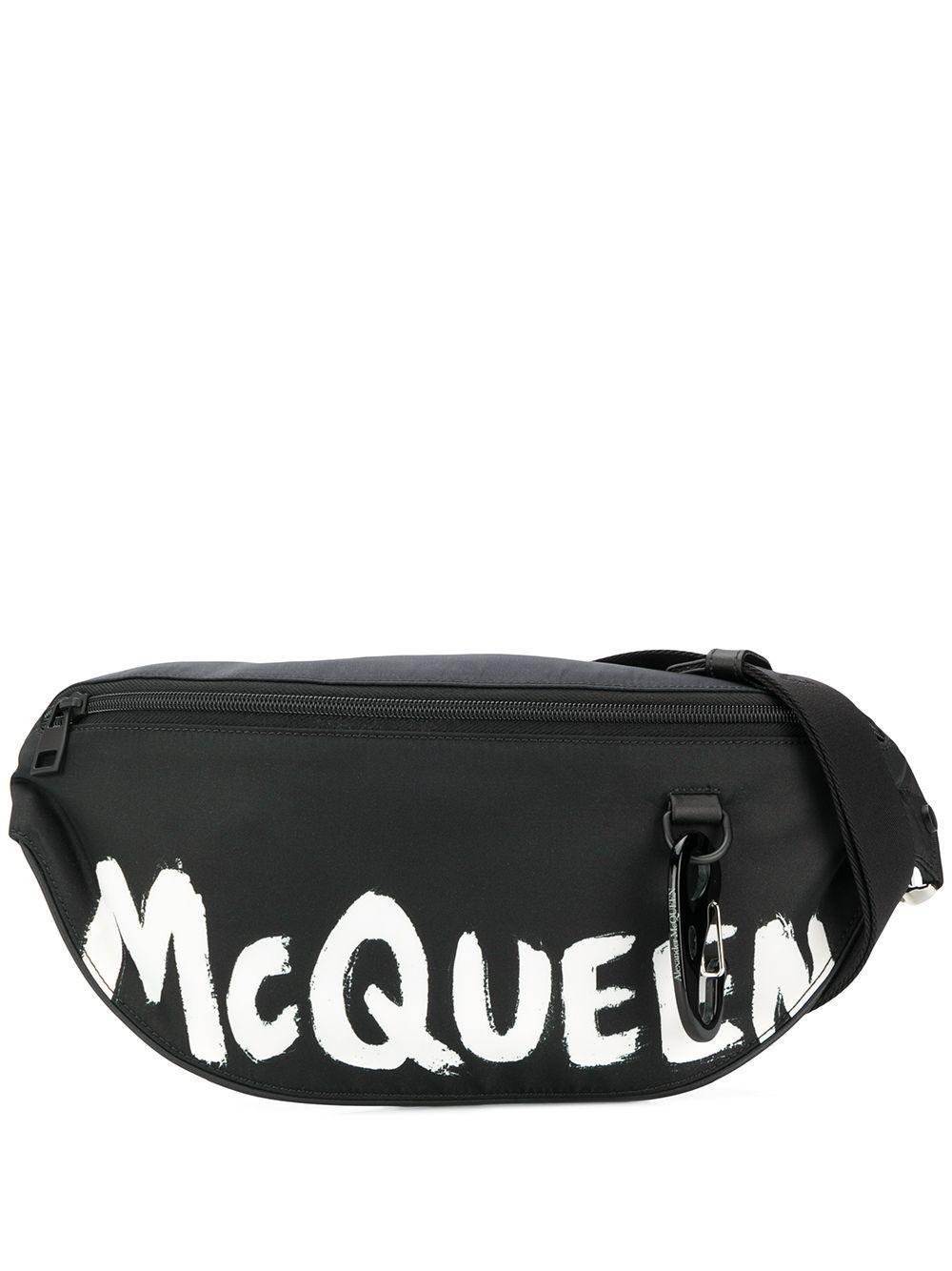 ALEXANDER MCQUEEN MEN'S 596425HWC1K1070 BLACK POLYAMIDE BELT BAG