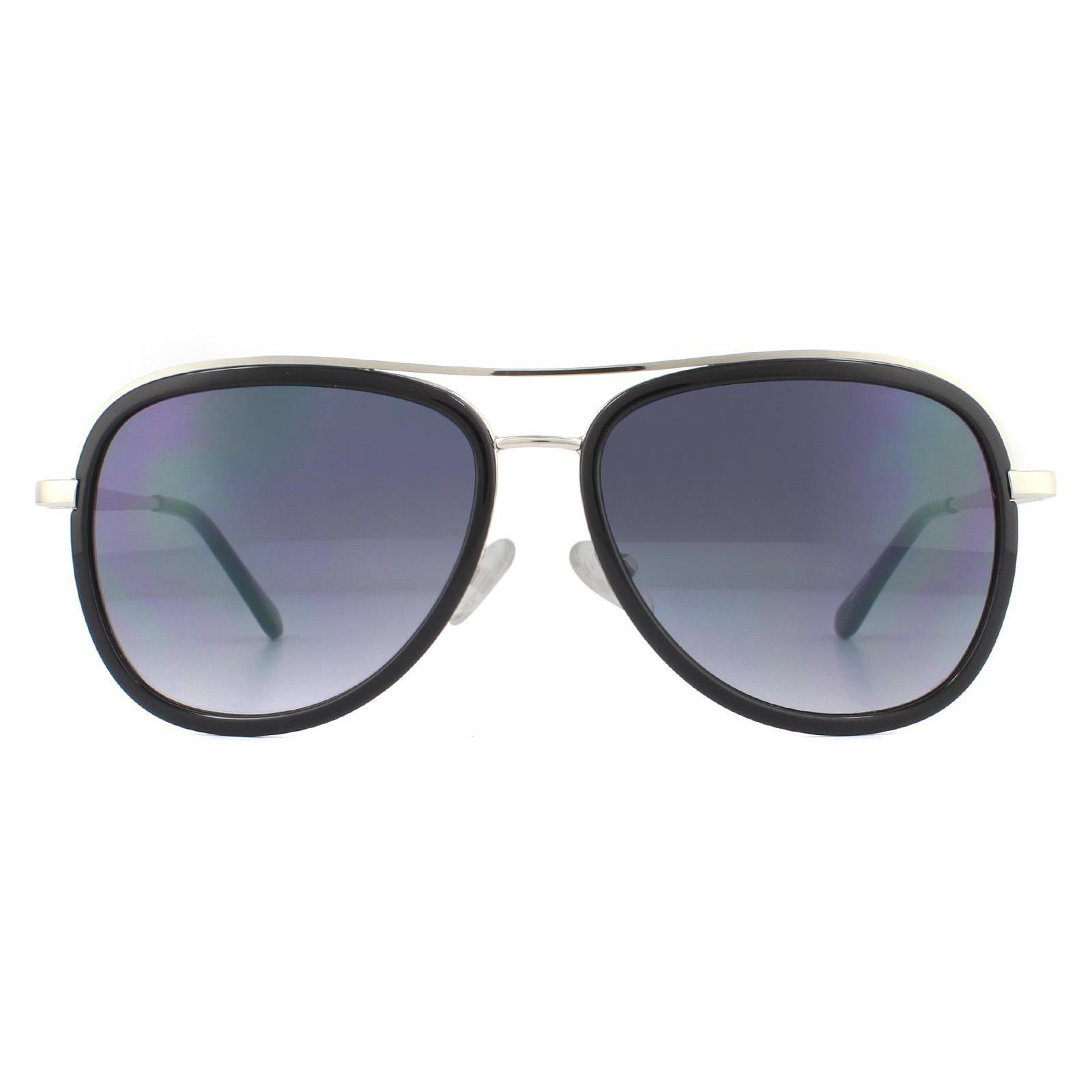 Guess Sunglasses GG1157 06B Shiny Dark Nickeltin Smoke Gradient
