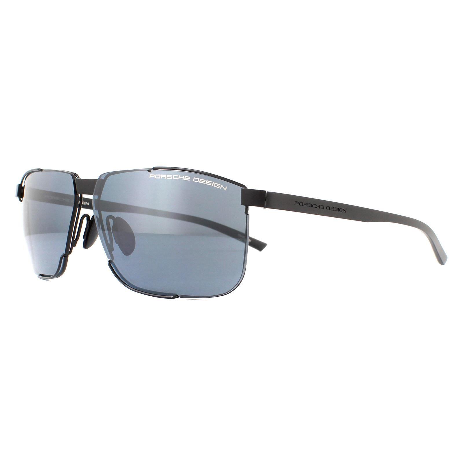 Porsche Design Sunglasses P8680 A Black Black Blue Silver Mirror