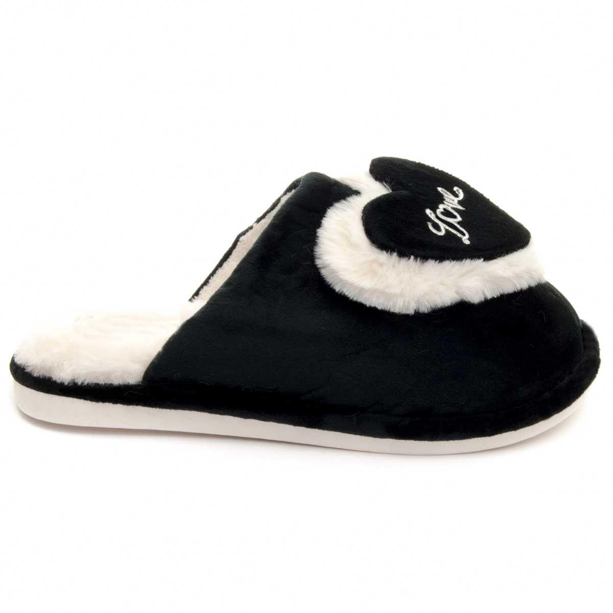 Montevita Comfortable Slipper in Black