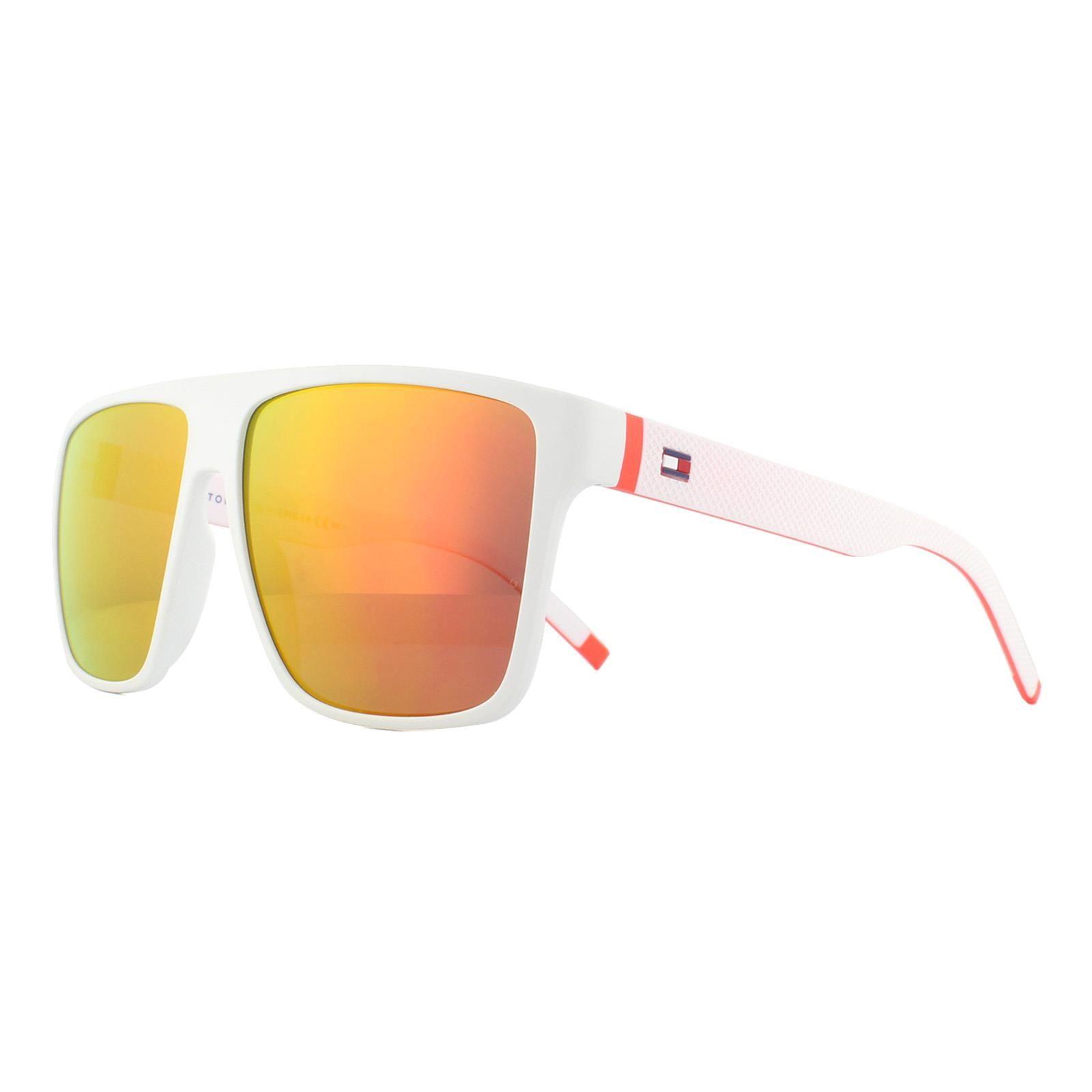 Tommy Hilfiger Sunglasses Th 1717/S E0G Uw Matte White Orange Mirror