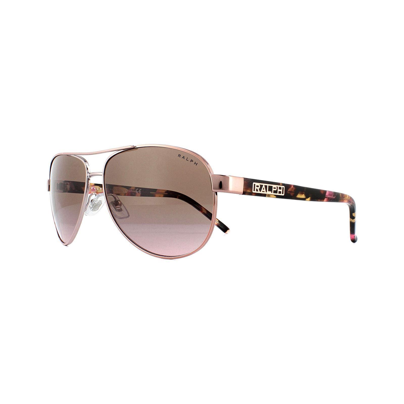 Ralph by Ralph Lauren Sunglasses 4004 915814 Rose Gold Violet Gradient Brown