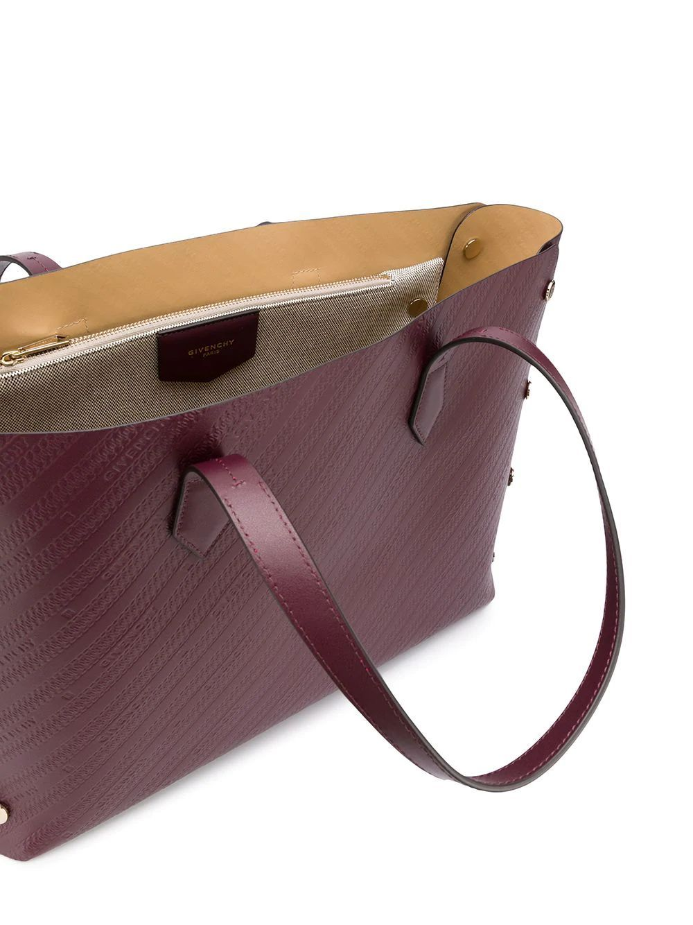 GIVENCHY WOMEN'S BB50AVB0RX542 BURGUNDY LEATHER TOTE