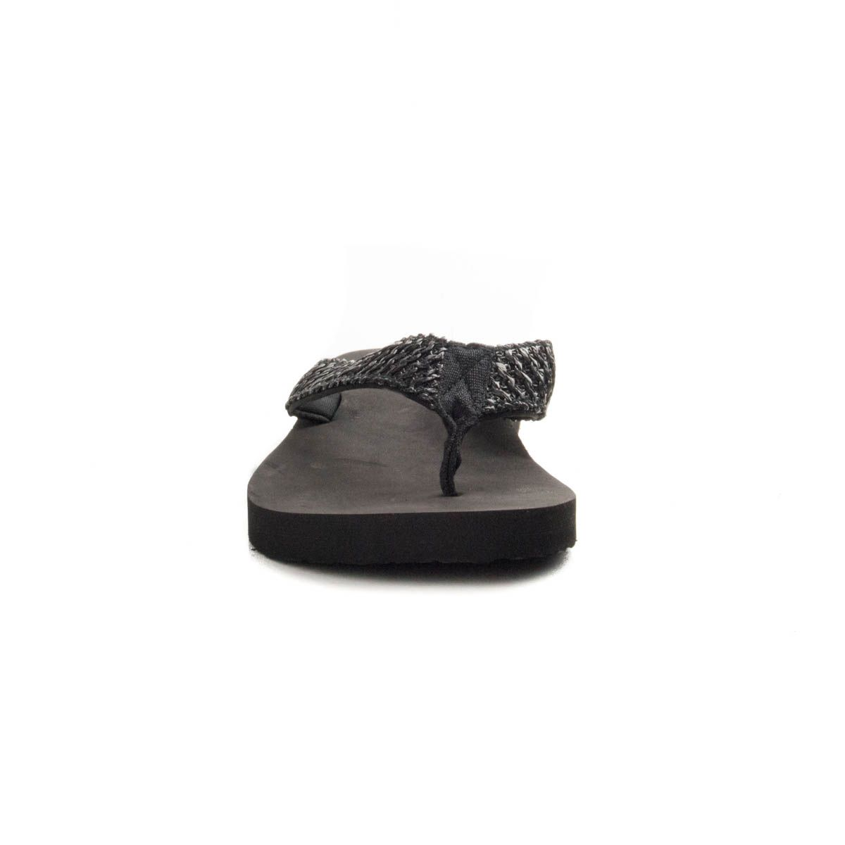 Montevita Woven Flip Flop in Black