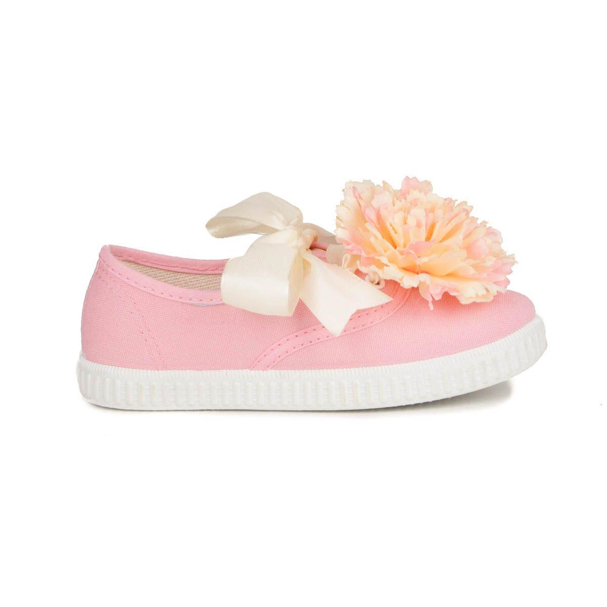 Maria Graor Ribbon Lace Sneaker in Pink