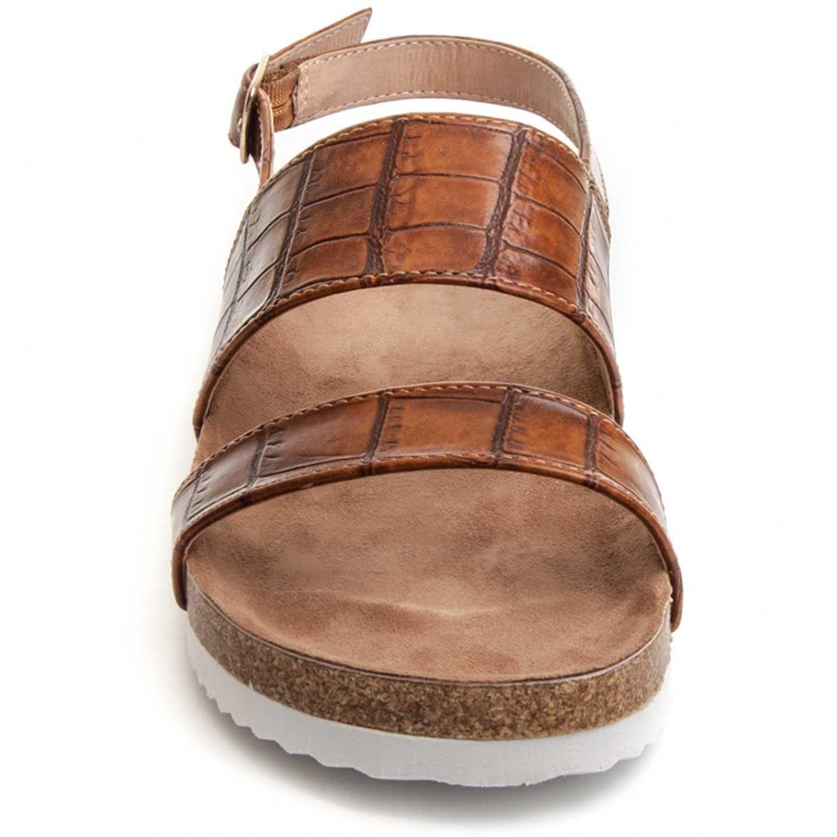 Montevita Double Strap Flat Sandal in Camel