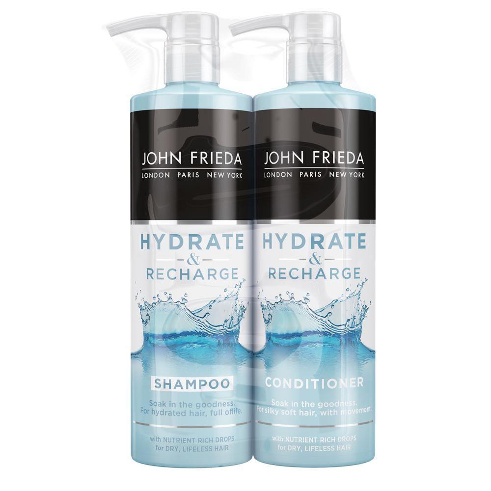 John Frieda Hydrate & Recharge Dry Hair Shampoo & Conditioner 500ml Duo Pack
