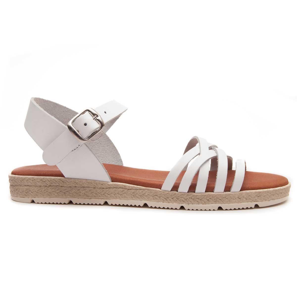 Leindia Strappy Sandal in White