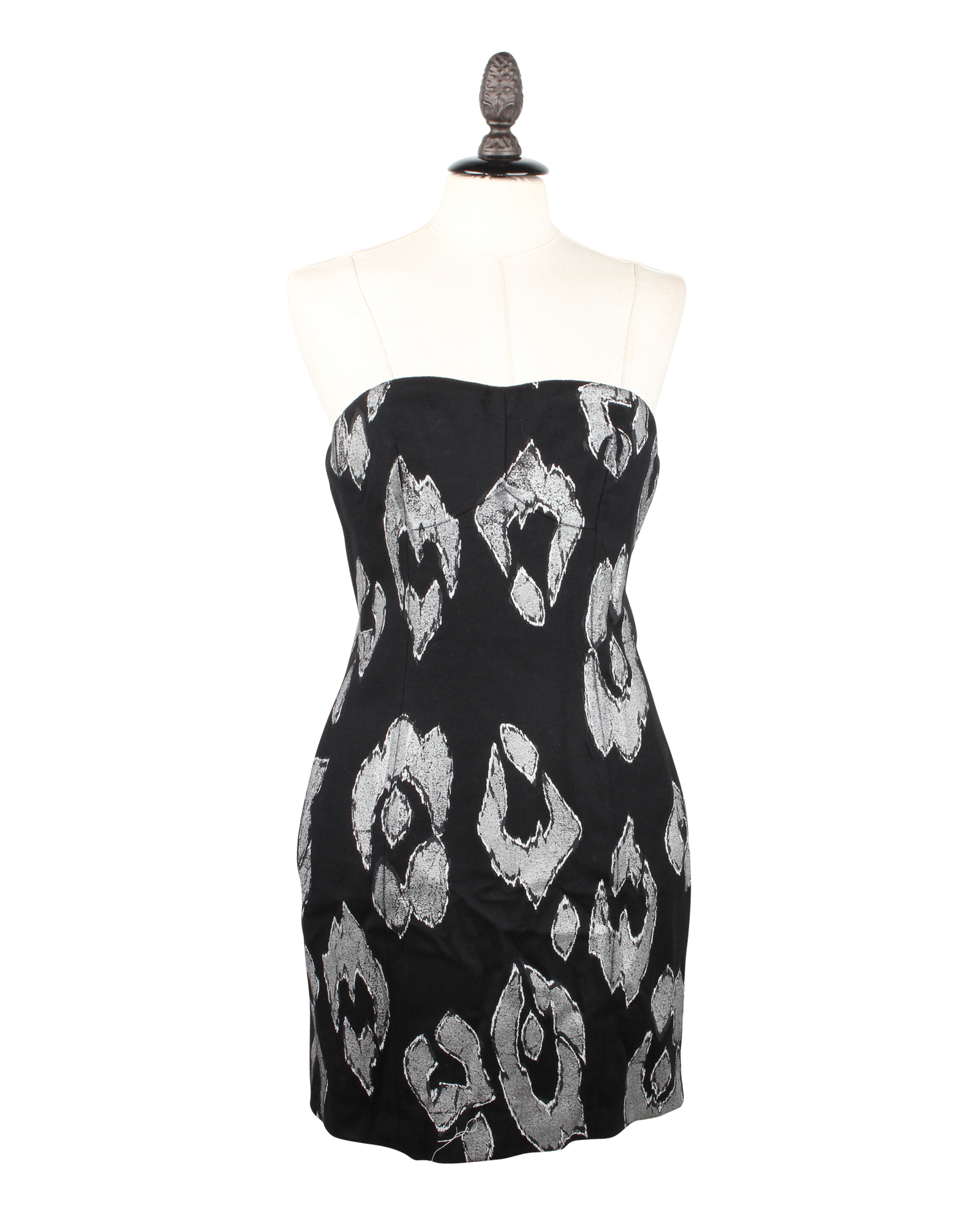 Just Cavalli Black & White Pattern Dress