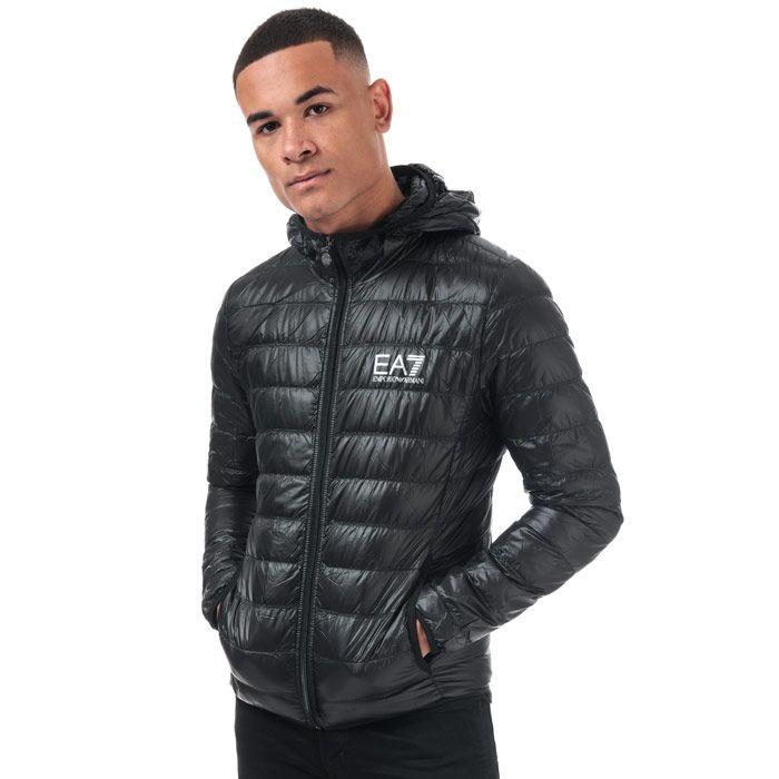 Men's Emporio Armani EA7 Core ID Down Jacket in Black