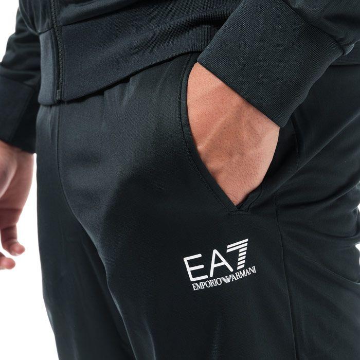 Men's Emporio Armani EA7 Core ID Poly Tracksuit in Navy