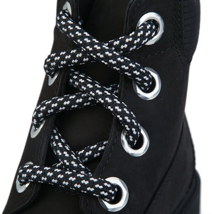 Women's Timberland 6 Inch Convenience Lace Boots in Black