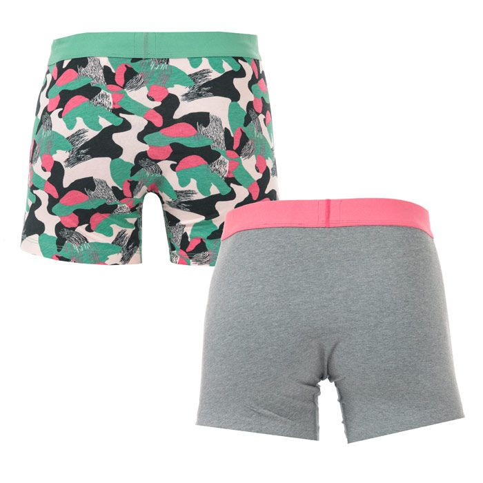 Men's Levis Basic 2 Pack Boxer Shorts in Grey pink
