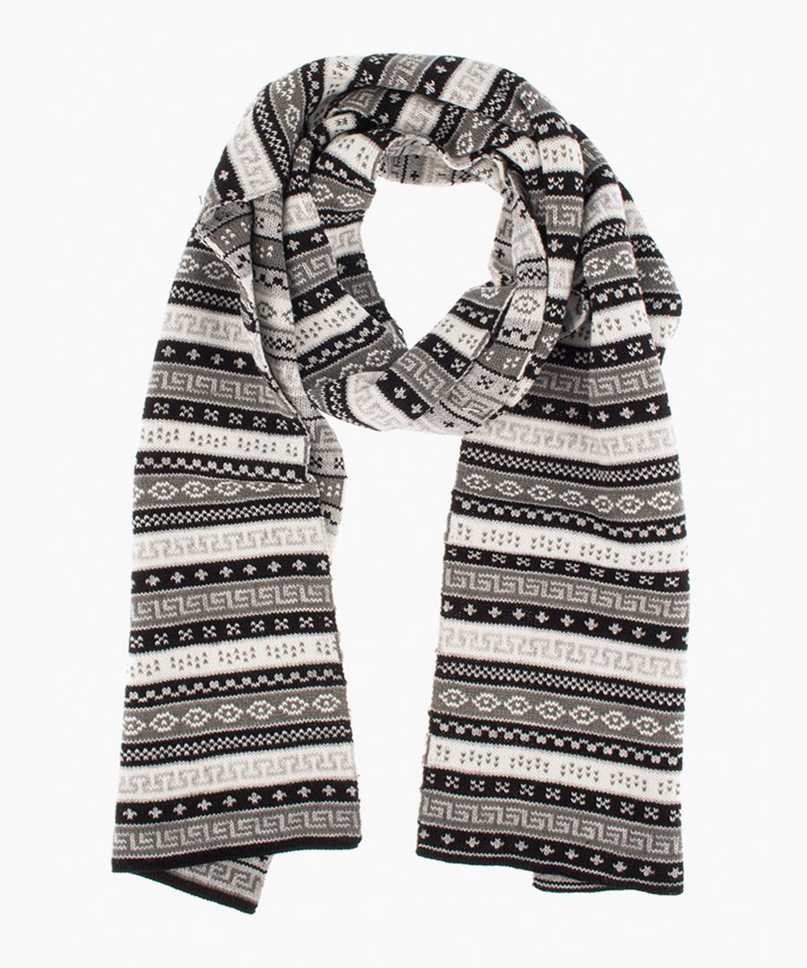 Black and winter white scarf