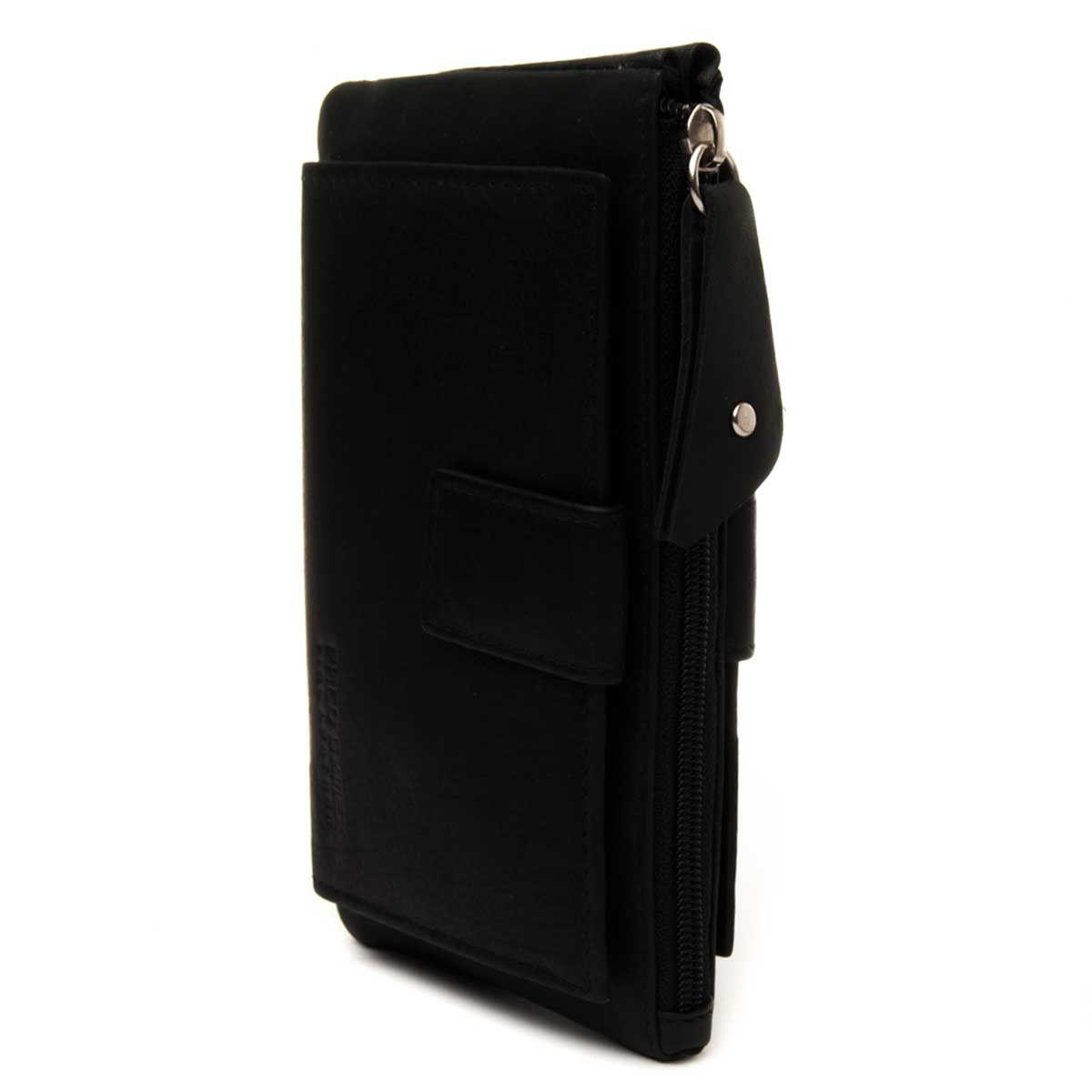 Montevita Leather Purse in Black