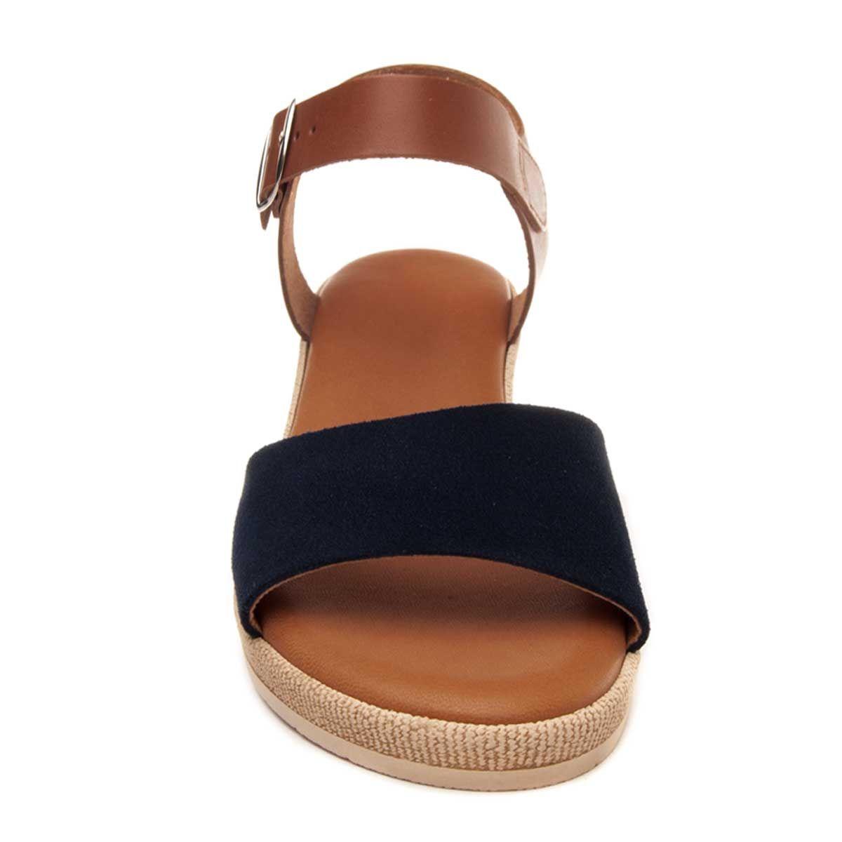 Purapiel Wedge Sandal in Blue