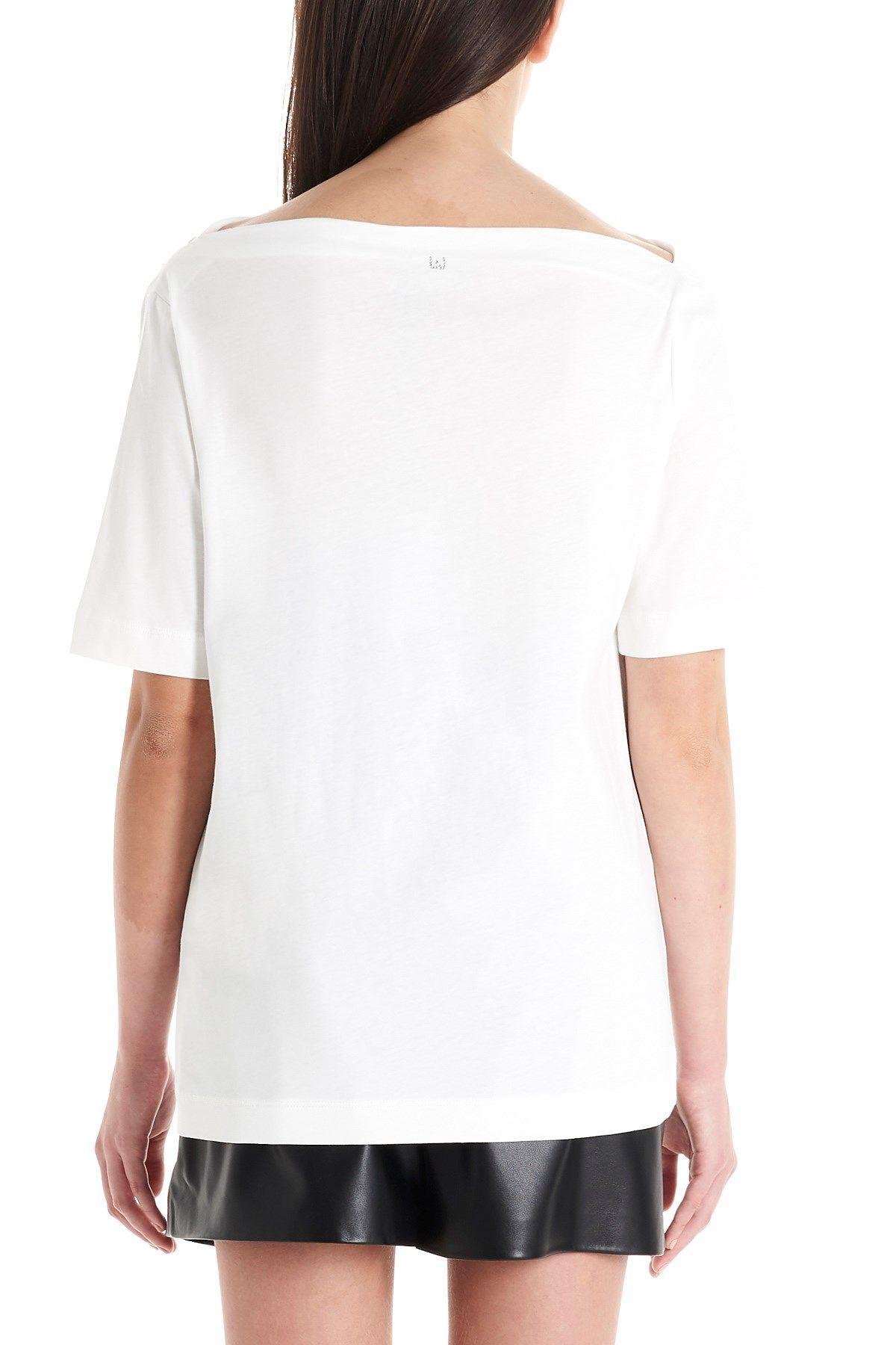 LIU JO WOMEN'S CA0175J5884X0256 WHITE COTTON T-SHIRT