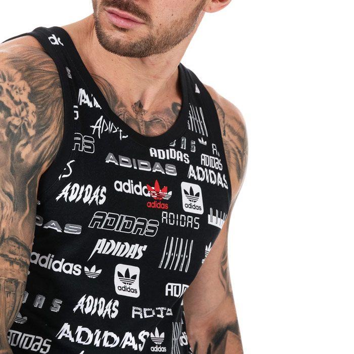 Men's adidas Originals Stick Tank in Black