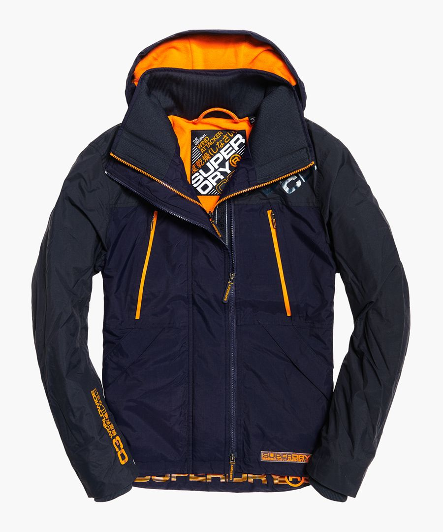 Arctic Attacker navy hooded jacket