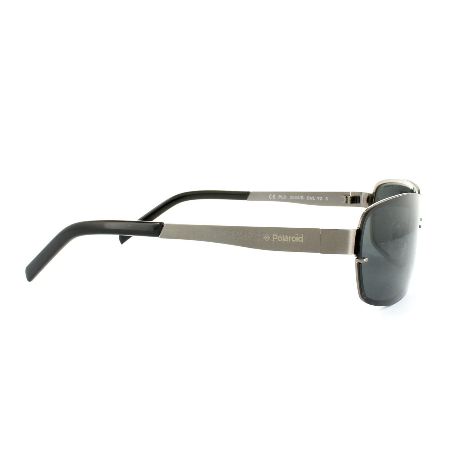 Polaroid Sunglasses 2024/S CVL Y2 Dark Ruthenium Grey Black Grey Polarized