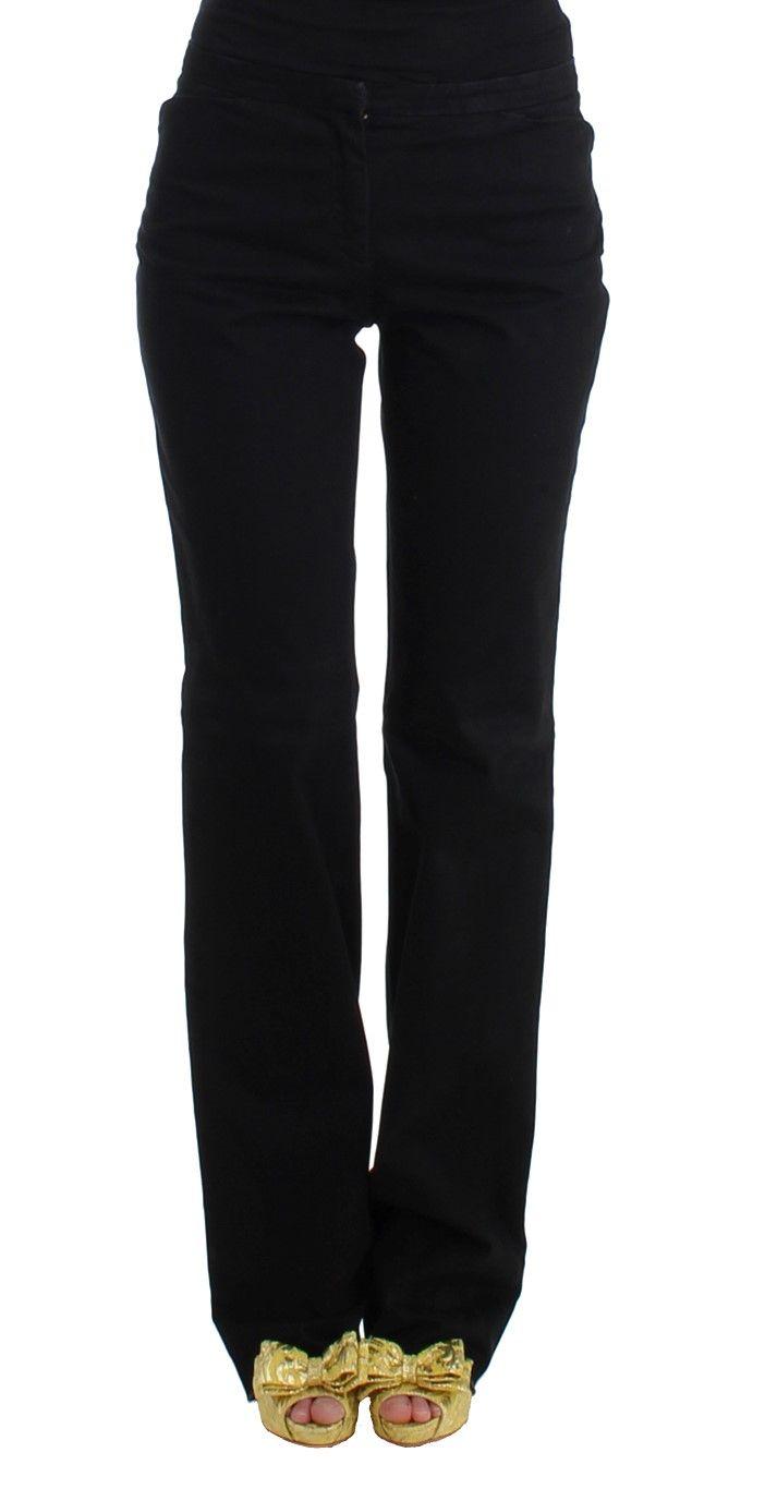Cavalli Black straight cotton pants