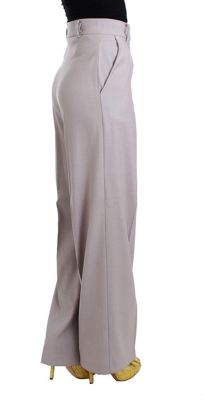 Cavalli Gray high waist pants