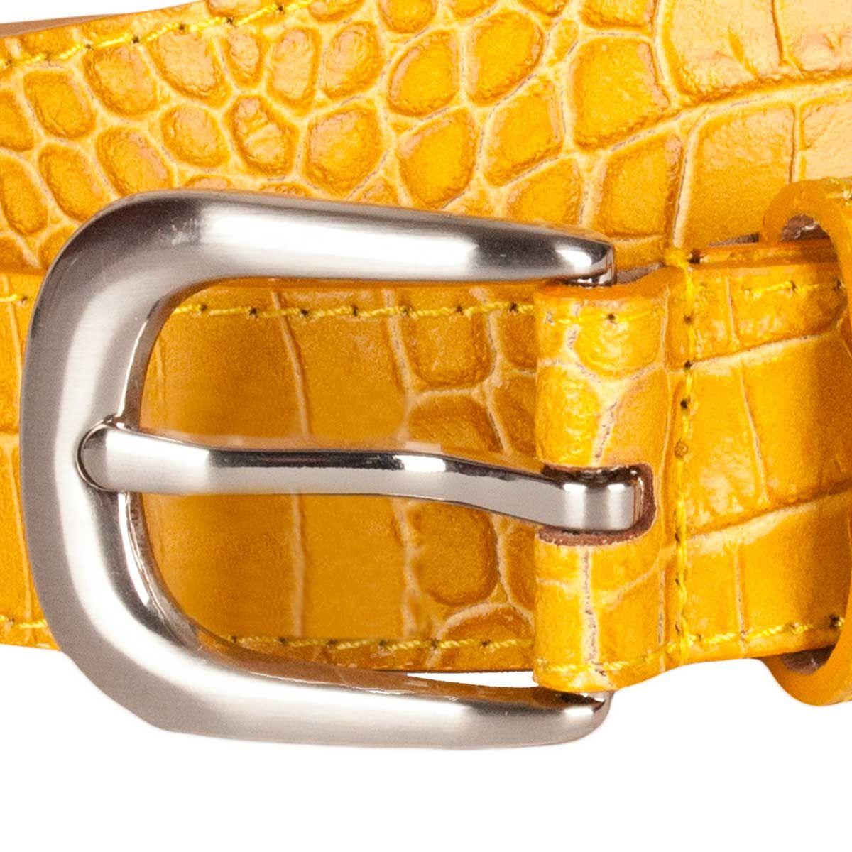 Montevita Casual Quality Belt in Mustard
