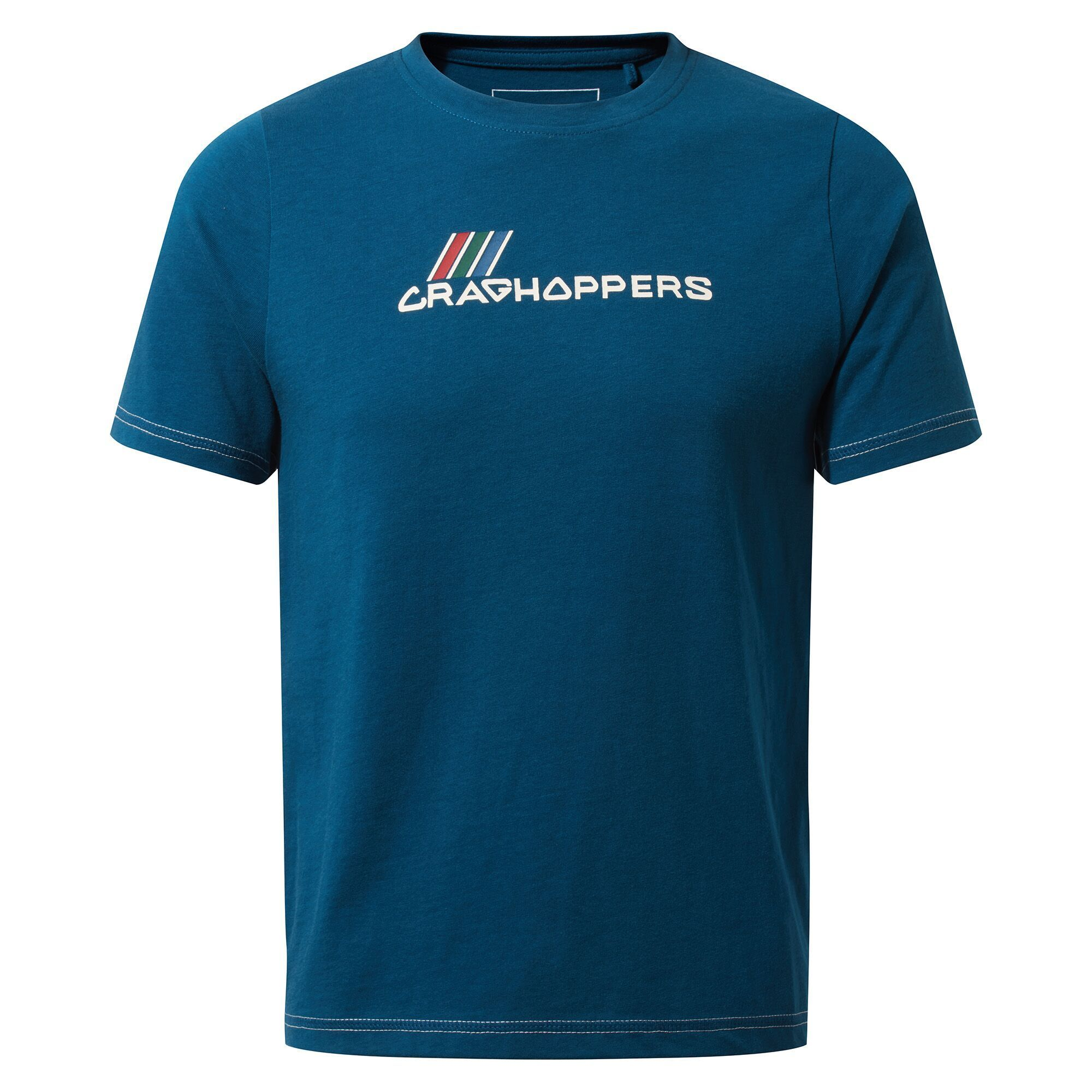 Craghoppers Childrens/Kids Gibbon Logo T-Shirt (Poseidon Blue)