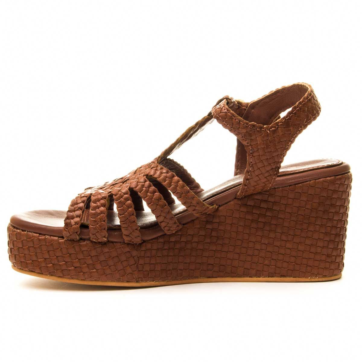 Montevita Chunky Heel Sandal in Camel