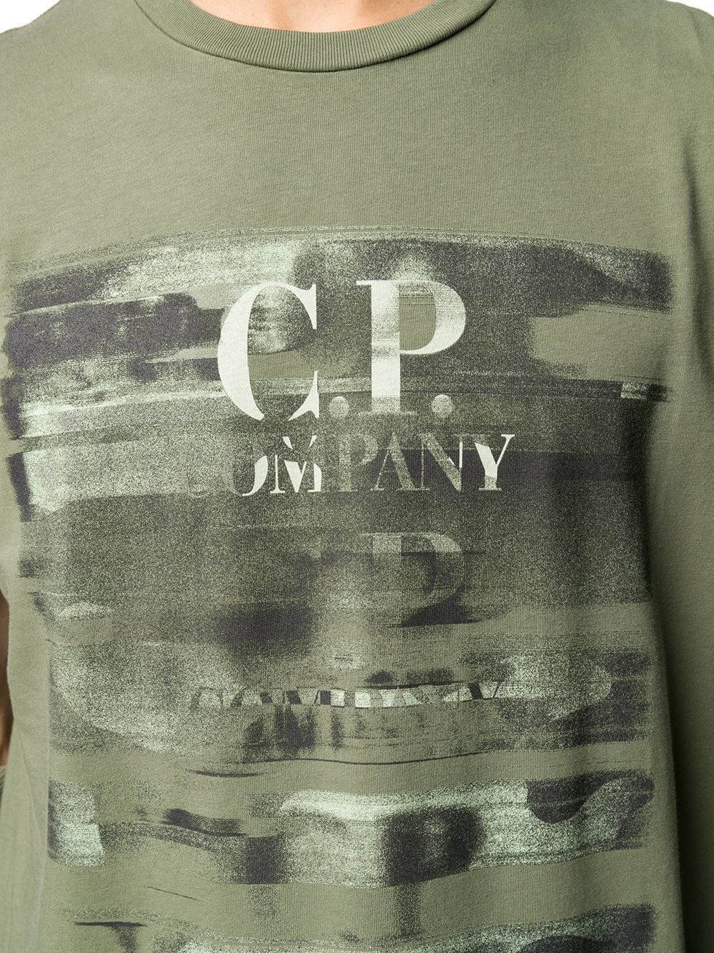 CP COMPANY MEN'S 08CMTS336A005621W660 GREEN COTTON T-SHIRT