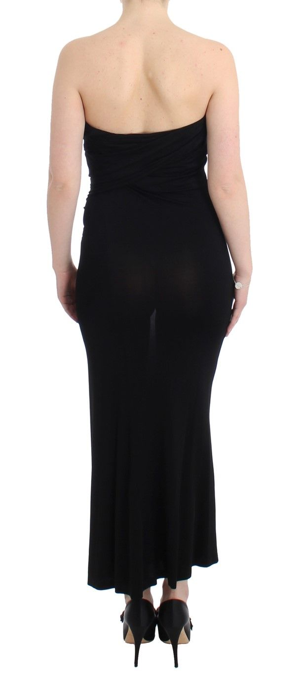 Cavalli Black strapless maxi dress