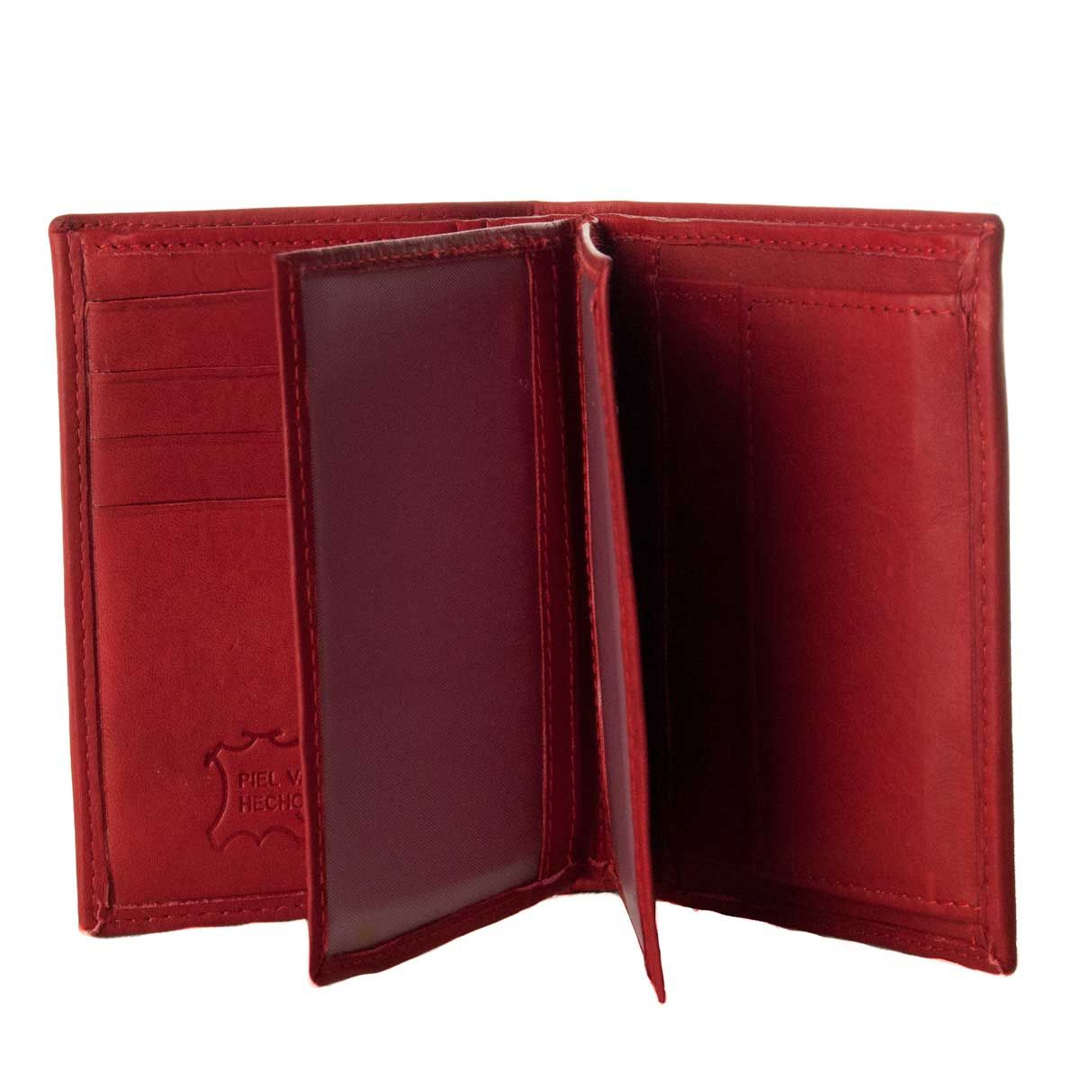Montevita Leather Wallet in Red